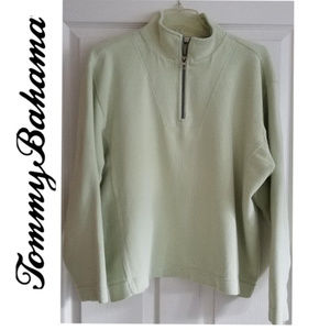 TOMMY BAHAMA Women's 1/4 Zip Pullover - L